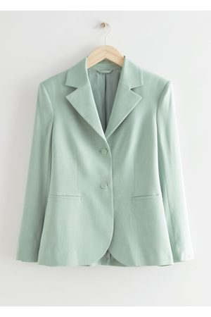 & OTHER STORIES Tailored Padded Shoulder Blazer