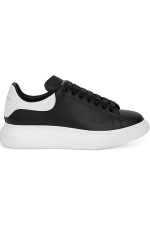 Alexander McQueen Men's Oversized Leather Heel Detail Sneakers