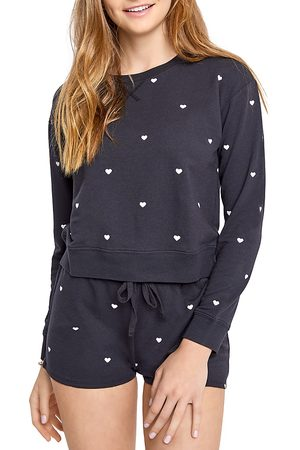 Splendid Jada Heart Embroidered Sweatshirt