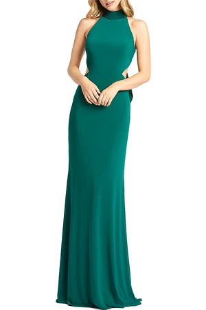 Mac Duggal Halter Neck Long Dress