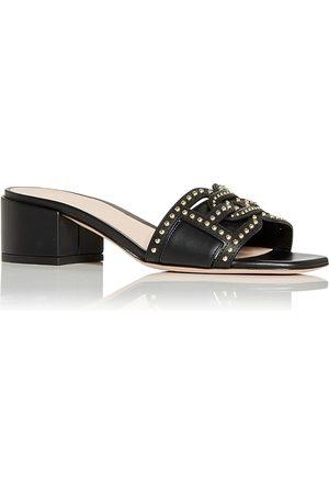 Bally Women's Peoni Studded Block Heel Slide Sandals
