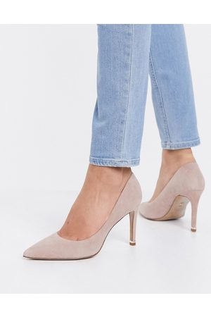Kenneth Cole Riley 85 mid heeled pumps in dusty rose leather