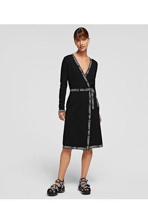 Karl Lagerfeld KARL LOGO TAPE WRAP DRESS