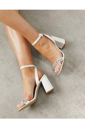 Be Mine Bridal Neha embellished sandals in ivory satin