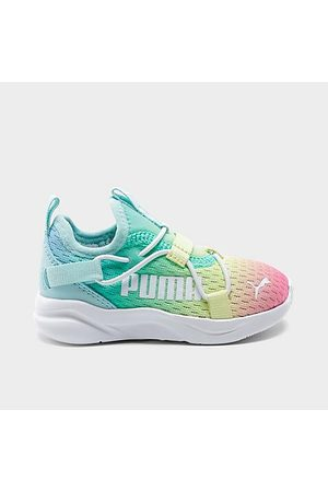 PUMA Girls Casual Shoes - Girls' Little Kids' Rainbow Rift Slip-On Casual Shoes in / Glow Size 1.5 Knit