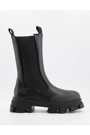 Public Desire Boston chunky chelsea boots in