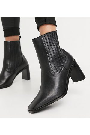 Raid Wide Fit Benita heeled chelsea boots in off