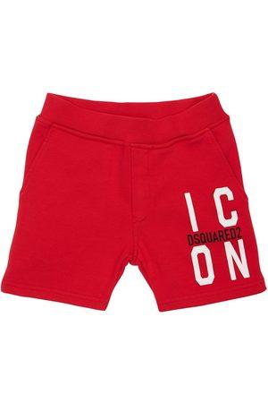Dsquared2 Icon Print Cotton Sweat Shorts