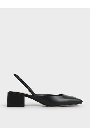 CHARLES & KEITH Women Heels - Square Toe Slingback Pumps