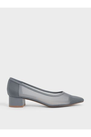 CHARLES & KEITH Mesh Toe Cap Pumps