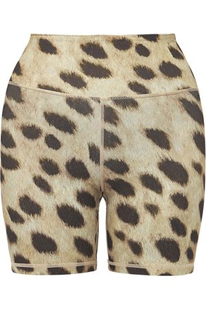 WeWoreWhat Women Shorts - Leopard Print Bike Shorts