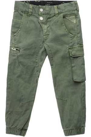 Replay Garment Dyed Stretch Satin Girl 8 Years Military Army