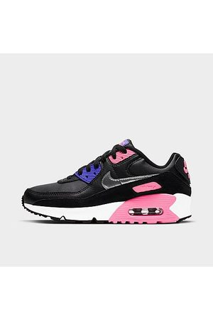 Nike Girls Casual Shoes - Girls' Big Kids' Air Max 90 Casual Shoes in / Size 3.5 Leather