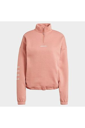 adidas Women's Originals Repeat Quarter-Zip Sweatshirt in /Ash