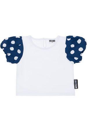 Moschino Logo Patch Cotton Jersey T-shirt