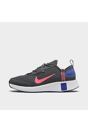 Nike Girls' Little Kids' Reposto Casual Shoes in Grey/ Smoke Grey Size 1.0