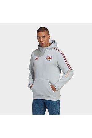 Adidas Team Men Hoodies - Men's adidas New York Red Bulls Travel Hoodie in Grey/Clear Grey Size Small Fleece