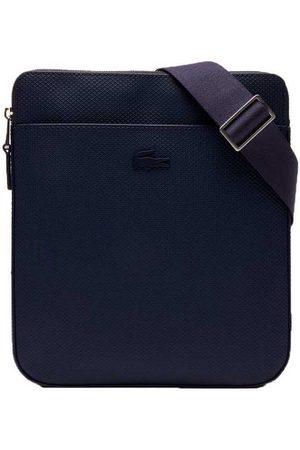 Lacoste Women Luggage - Chantaco Matte Pique Leather Flat Zip One Size Grey / White