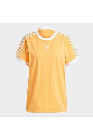 adidas Women T-shirts - Women's Originals 3-Stripes T-Shirt in /Hazy Size Small Cotton
