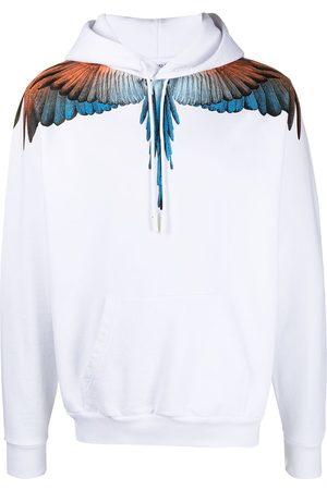 MARCELO BURLON Men Hoodies - Wings print hoodie