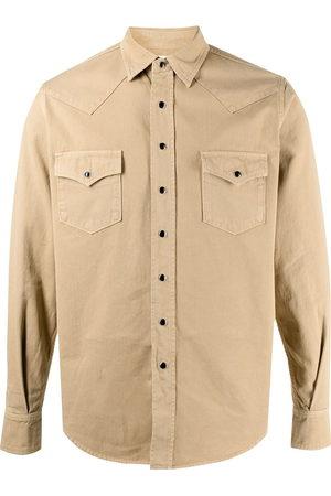 Saint Laurent Men Denim - Stonewashed western denim shirt - 9241 dyeing stonewash