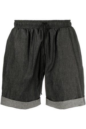 Alchemy Men Shorts - Turn-up hem chambray shorts