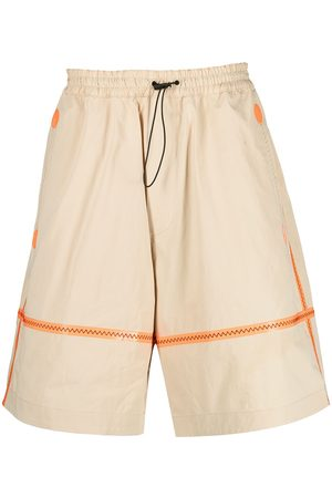 Dsquared2 Contrast-stitching wide-leg shorts - Neutrals