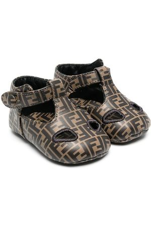 Fendi FF-pattern ballerina shoes