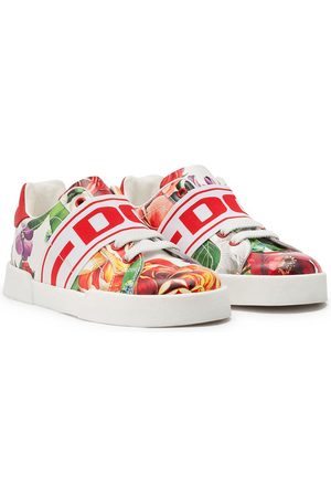 Dolce & Gabbana Floral-print slip-on sneakers