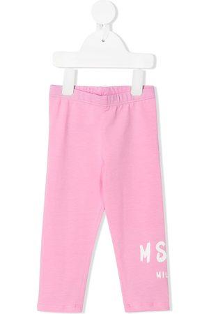 Msgm Baby Leggings - Logo print leggings