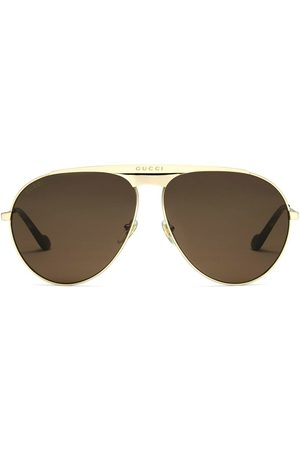 Gucci Aviator-frame logo sunglasses