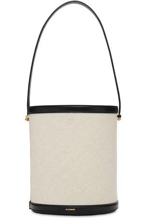 Jil Sander Women Shoulder Bags - Taos Cotton & Linen Bucket Bag