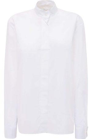 ALEXANDRE VAUTHIER Women Shirts - Cotton Poplin Shirt W/crystal Buttons