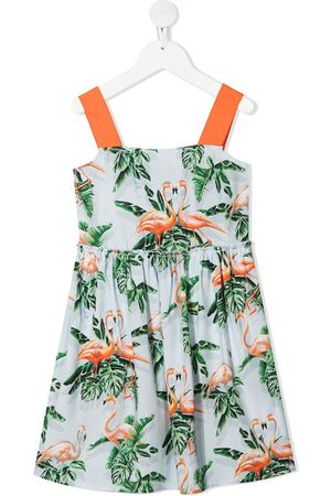 Stella McCartney Girls Casual Dresses - Flamingo-print dress