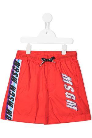 Msgm Logo-tape swim shorts