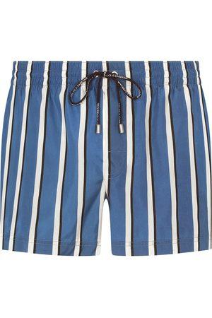 Dolce & Gabbana Striped drawstring swimming shorts