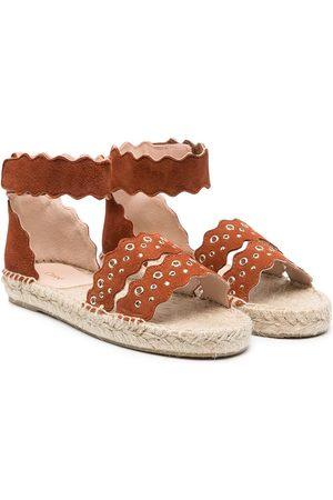Chloé Eyelet-embellished suede sandals
