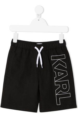 Karl Lagerfeld Karl outline logo swimming shorts