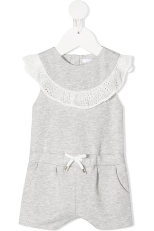 Chloé Lace-trimmed sleeveless romper - Grey