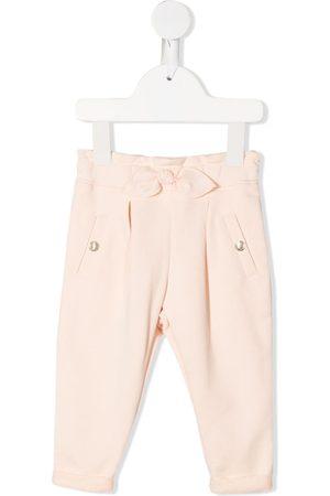 Chloé Bow-detail cotton trousers - Neutrals