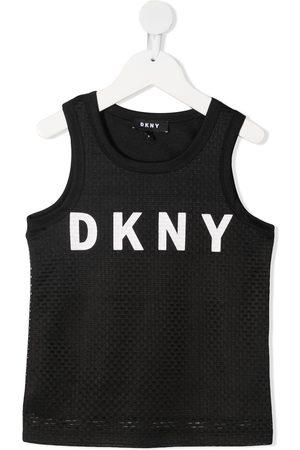 DKNY Logo print tank top