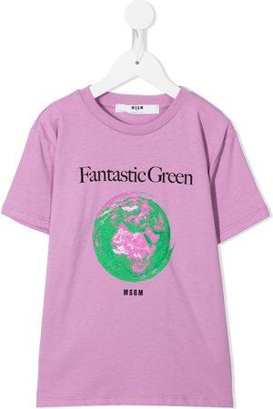 Msgm Planet crew-neck T-shirt