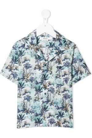 BONPOINT Botanical print short-sleeve shirt
