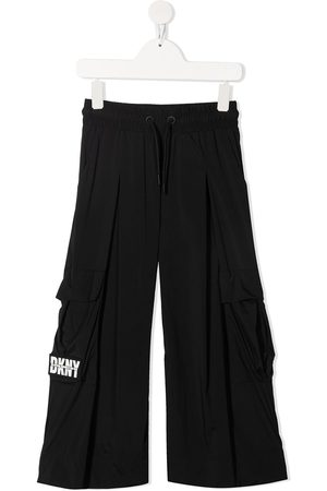 DKNY Logo-patch wide-leg trousers