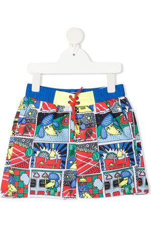 The Marc Jacobs Graphic-print swimshorts
