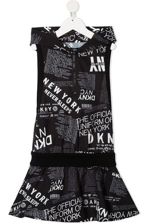 DKNY Graphic-print hooded dress