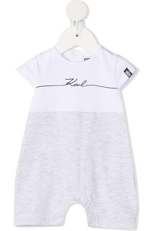 Karl Lagerfeld Rompers - Logo print bodysuit - Grey