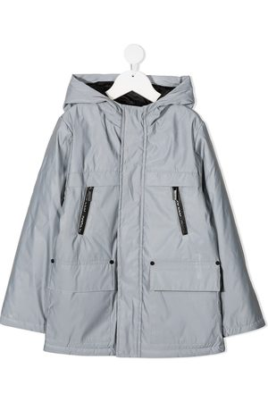 Karl Lagerfeld Digi Karl hooded windbreaker coat - Grey