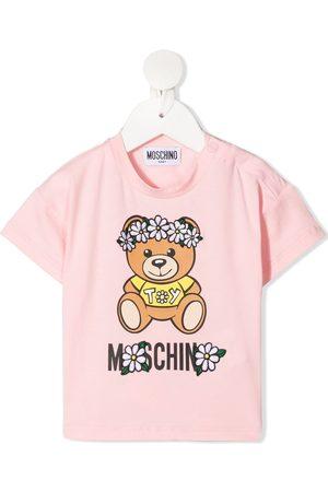 Moschino T-shirts - Teddy-print stretch-cotton T-shirt