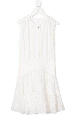 Chloé Lace embroidered shift silk dress